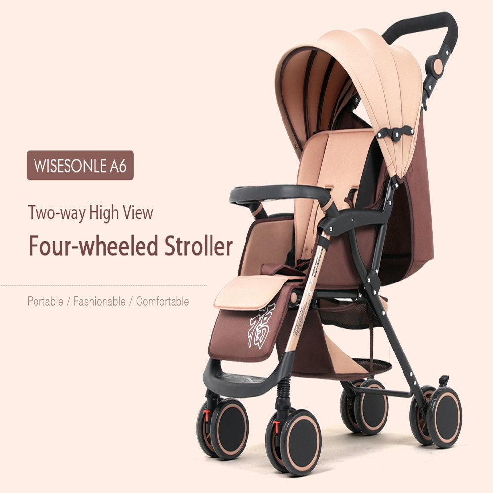 Lightweight Two Way High View Four Wheeled Baby Stroller ...