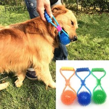 все цены на Pet Product TPR Rubber Elasticity Rope Ball Dog Toy Chew Teeth Clean Outdoor Traning Toys For Dogs Fun Playing Small Large Dogs