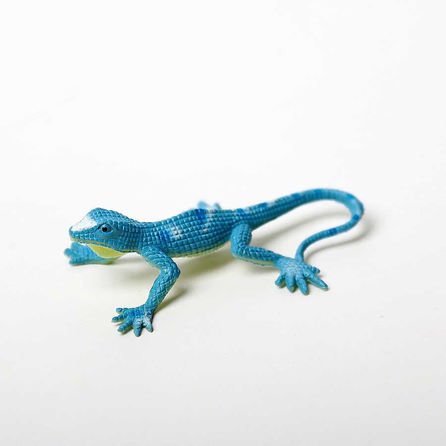 12 PCS Assorted Colorido Falso Partido Simulação Toy PVC Action Figure para Reptile Lagartos Lagartos modelo brinquedos Para a Coleta de Crianças