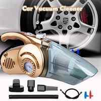 4-en-1 Portable Voiture Aspirateur à main avec numérique pneu gonfleur pompe pression humide et sec utilisation Aspirateur Voiture pour Auto