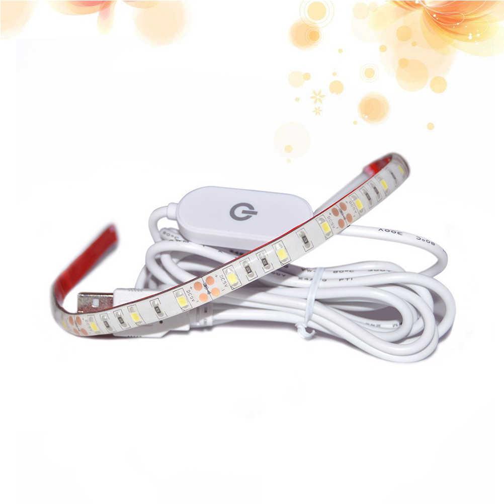 1 шт. 4000 К USB Powered 50 см 5 В светодио дный свет веревки Светодиодные ленты Швейные комплект освещения IP65 с сенсорным диммер для швейной машины