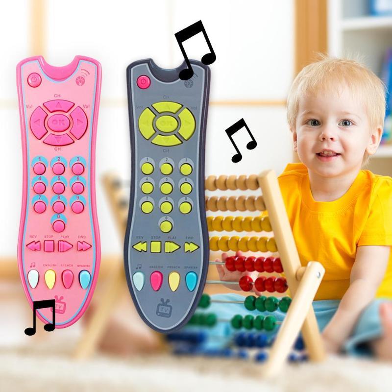 Baby Speelgoed Muziek Mobiele Telefoon TV Afstandsbediening Vroege Educatief Speelgoed Elektrische Nummers Remote Learning Machi