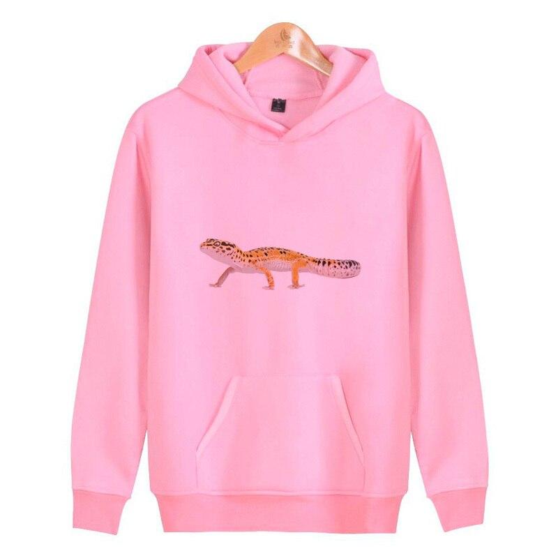 Leopard Gecko Hoodies Sweatshirts Homme Male Hoddies Hip Hop Pullover Men/women Harajuku Streetwear J4126