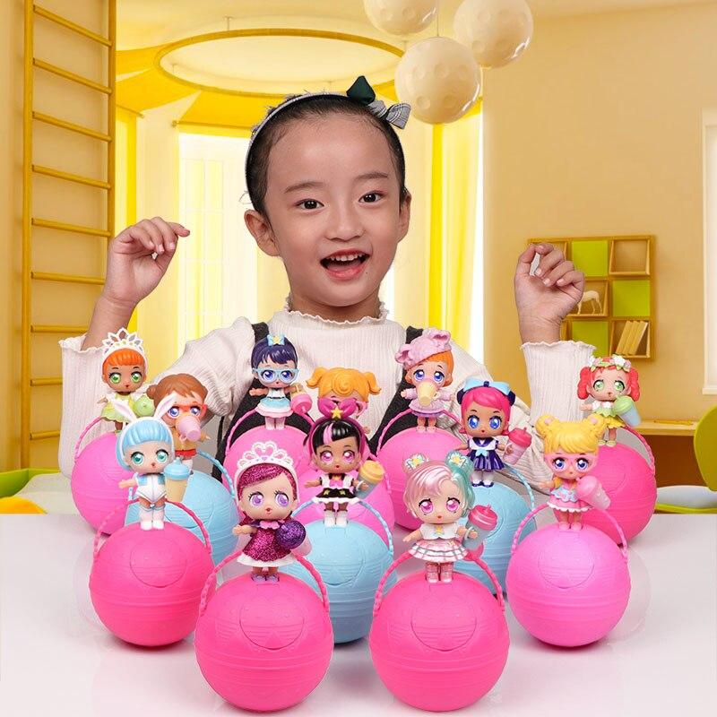 Eaki Todas As Séries Genuíno Crianças DIY Brinquedos Puzzle Brinquedo para lol Bonecas com Caixa Original caixa de Cego para o Aniversário Das Crianças presentes