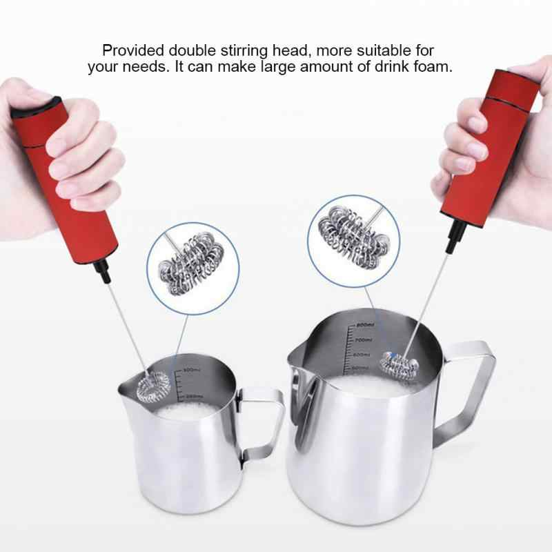 Vaporizador de leche eléctrico de acero inoxidable café batidor de huevos bebidas batidora de mano mezcladora de cocina potente espuma de leche melkopshuimer
