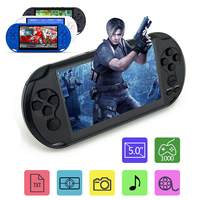 Video MP3 Player X9 Rechargeable 5.0 inch 8G Handheld Retro Game Console Camera DV Shooting Multi languages Net 32/64 Bit
