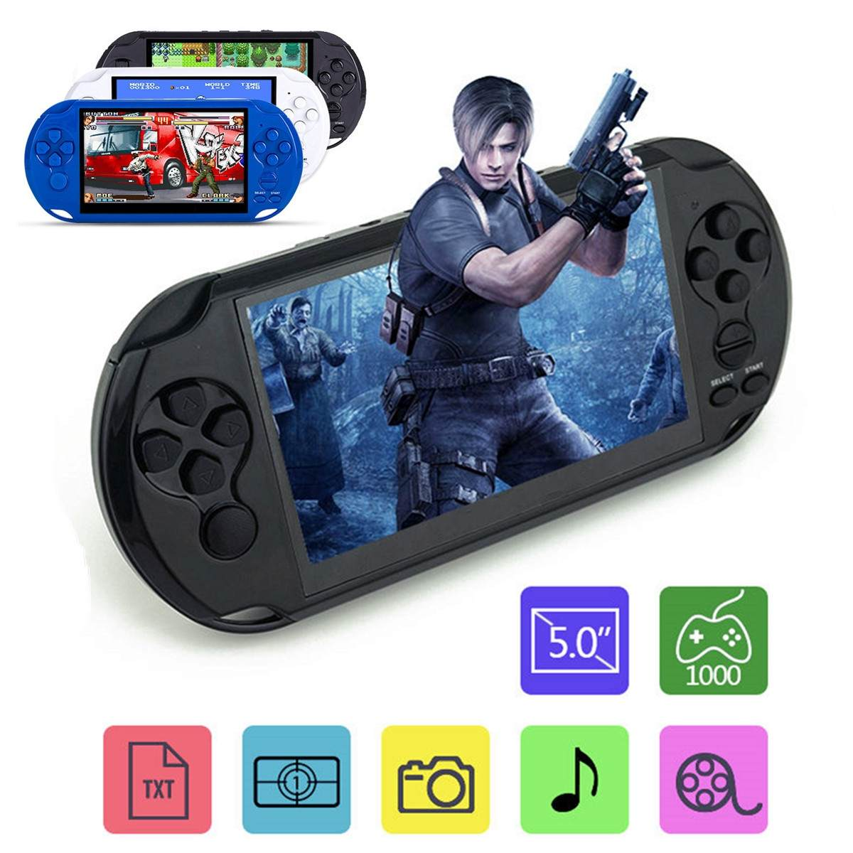 Video MP3 Player X9 Rechargeable 5.0 inch 8G Handheld Retro Game Console Camera DV Shooting Multi-languages Net 32/64 Bit