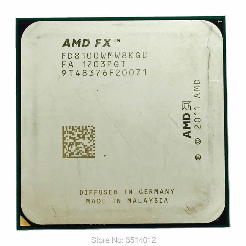 AMD FX Series FX 8100 2 8 GHz Eight Core CPU Processor FD8100WMW8KGU Socket AM3