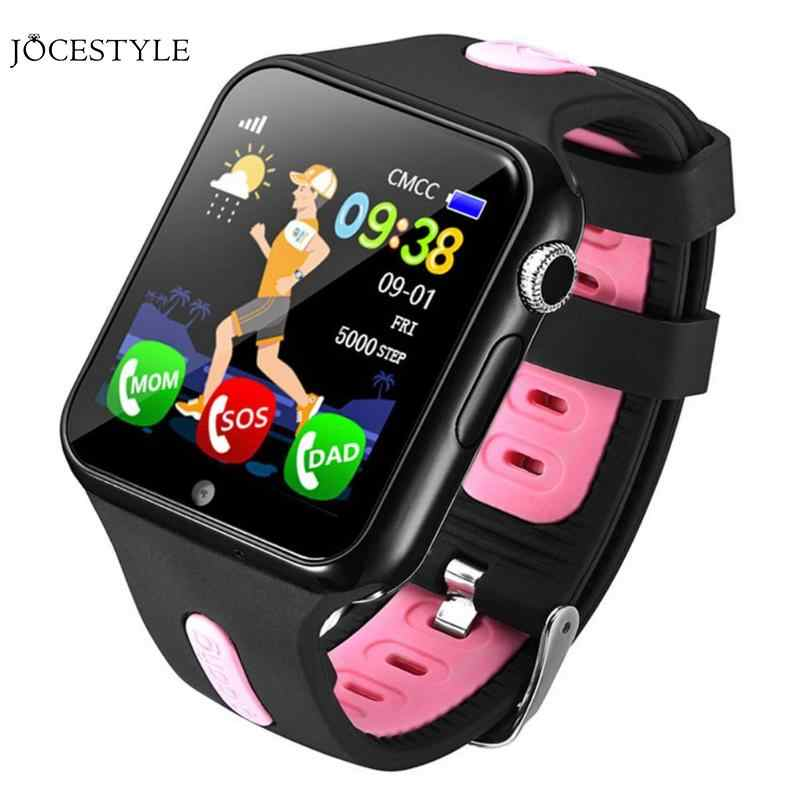 V5K GPS Tracker Kids Watch Camera Flashlight Touch Screen Phone GPS Location Anti-lost SOS Call Smartwatch Dropshipping