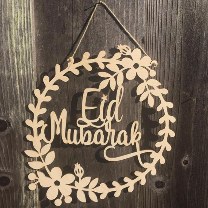 15pc Eid Mubarak Decoration Ramadan Non-Woven Hanging Ornament Pendant Festival Hanging Ornament Home Party Festival Accessories