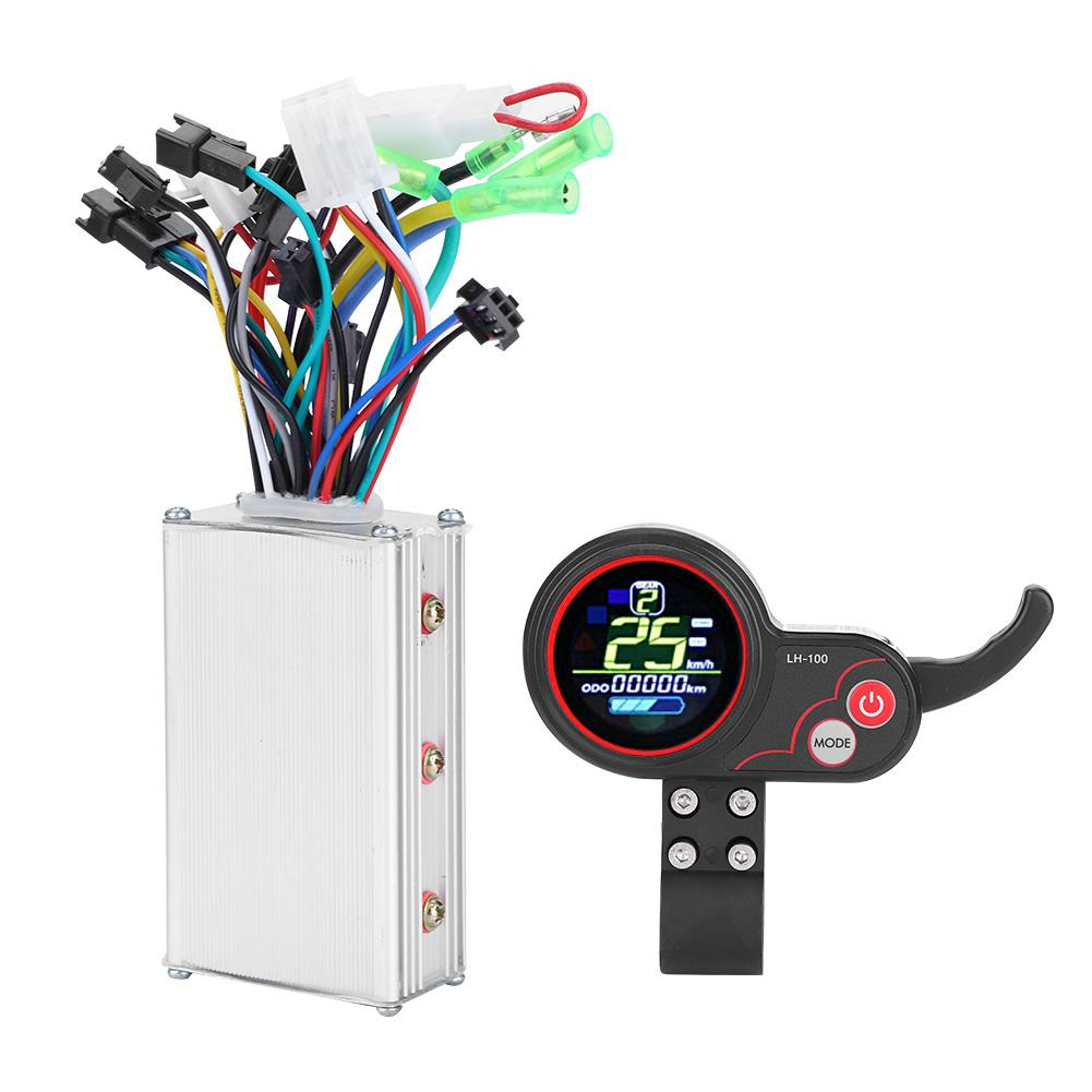 24V 36V 48V 60V 25W 350W Electric Bicycle Controller LCD Display Panel with Shift Switch Electric