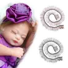 b3dfd08e7a4 18 Inch Doll False Eyelashes Suitable For Rebirth BJD False Eyelashes SD False  Eyelashes Girl Toy Doll Parts Eyelashes Gift