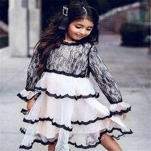 цена на Baby Girls Ruffles Princess Tutu Dress 2019 Spring Summer White Lace Party Dress Multi Layer Cake Ball Evening Dress For Girls
