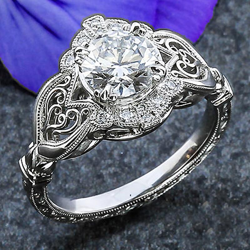 HUITAN Bridal Ring With...