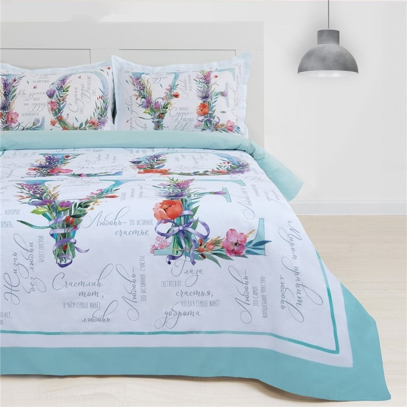 Bed Linen Ethel Euro Love 200*217 cm, 220*240 cm, 50*70 + 3 cm-2 pcs, 100% cotton 3823949 free shipping 50 pcs irf540npbf to 220 irf540n irf540 mosfet
