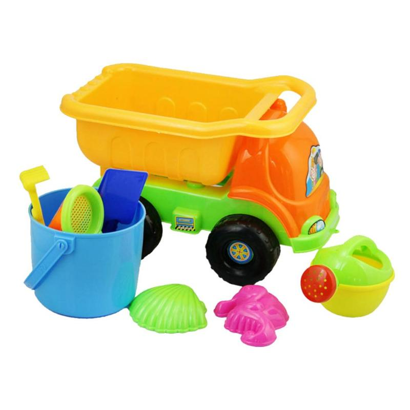 Have An Inquiring Mind 9pcs/set Summer Beach Sand Water Toys Kid Beach Car Bucket Shovel Rake Tool Strengthening Waist And Sinews Toys & Hobbies