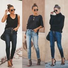 2019 Plus Size Fashion Jeans Women Pencil Pants Women High Elastic Stretchy Women befree Trousers Sexy Slim Lady Jeans
