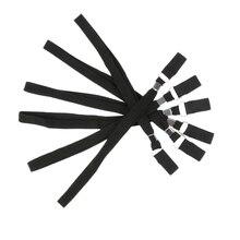 6 шт. черный походный трость веревки костыль Наручные Ремни ручной браслет