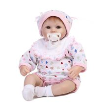 Soft Silicone Reborn Baby Doll Girl Toys Lifelike Babies Fashion Dolls Beby Reborn Infant Relike Fake Real Baby Toys For Kids npkcollection silicone reborn dolls baby alive soft toys for girls kids 20 icnh real dolls reborn babies sleeping doll soft toys