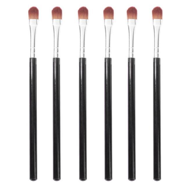 6 piezas de sombra de ojos de cepillos delineador de ojos párpado maquillaje de labios cepillo de pelo sintético corrector maquillaje cepillo conjunto