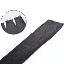 100% Unprocessed Human Hair Wigs Original Virgin Hair Straight Black Wigs Seamless Hair Extension Natural Color 45-80cm(China)