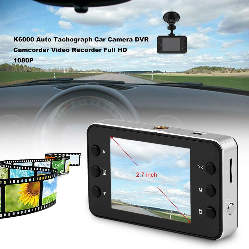 <font><b>K6000</b></font> Auto Tachograph <font><b>Car</b></font> Camera <font><b>DVR</b></font> Camcorder Video Recorder Full HD 1080P image