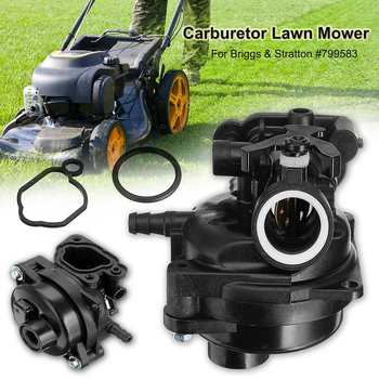 Yeni Karbüratör Montajı Yakıt Gaz çim biçme makinesi Carb Briggs ve Stratton 799583 Siyah Karbüratör çim biçme makinesi Kiti