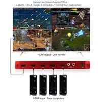 TreasLin 1080P HDMI 1.3a HDCP 1,2 HDMI 4x1 Quad Multi Viewer с бесшовным переключателем Поддержка ИК управления и аудио выход