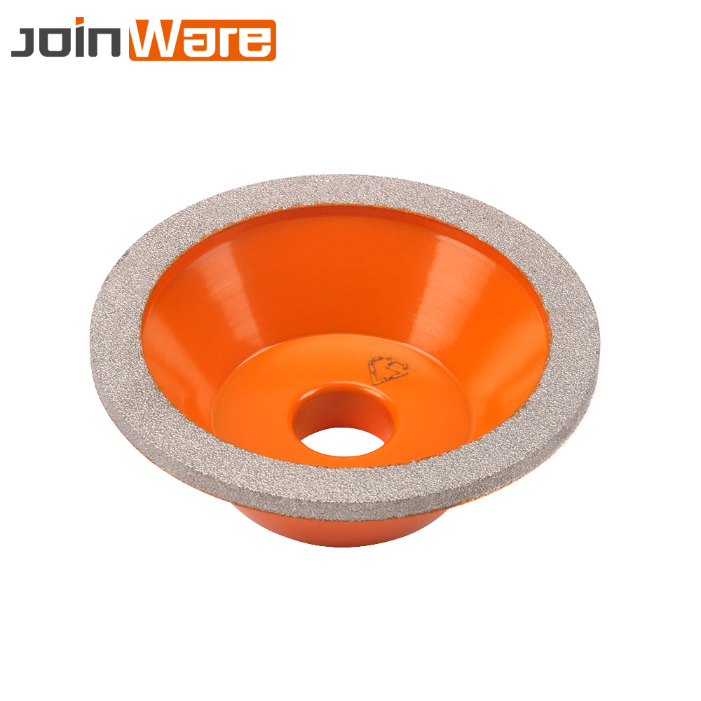 100mm Brazed Diamond Wheel Cup Shape Grinder Cutter Grinding Tool For Marble Granite Tungsten Steel Ceramics Stone 100x20x35mm