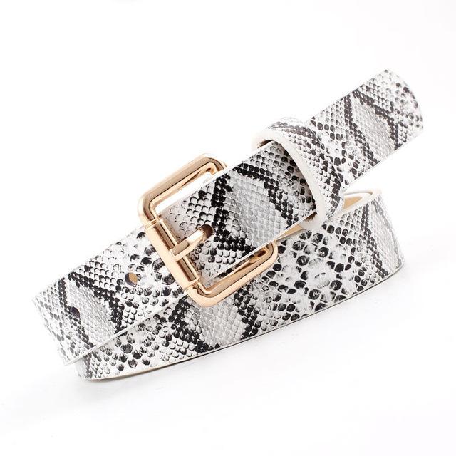 High Quality Pu Leather Snake Waist Belt Women