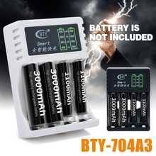 2 Colors Batteries Charger DC 5V 1A 4 Slots LED Battery Chargers For AA/AAA Ni-MH/Ni-Cd Rechargeable Mayitr