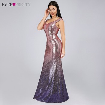 Sexy Prom Dresses Ever Pretty V-Neck Mermaid Sleeveless Sequined Spaghetti Strap EB29998 Gowns for Party Vestidos de Gala 2020 2