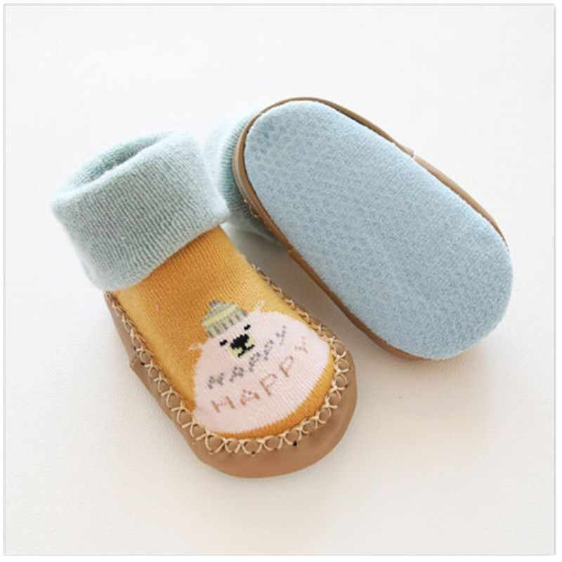Newborn Baby Crib Shoes Cute Animal Pattern Infant Girls Boys Short Socks Little Kids Slipper Cartoon Shoes Floor Socks 0-36M