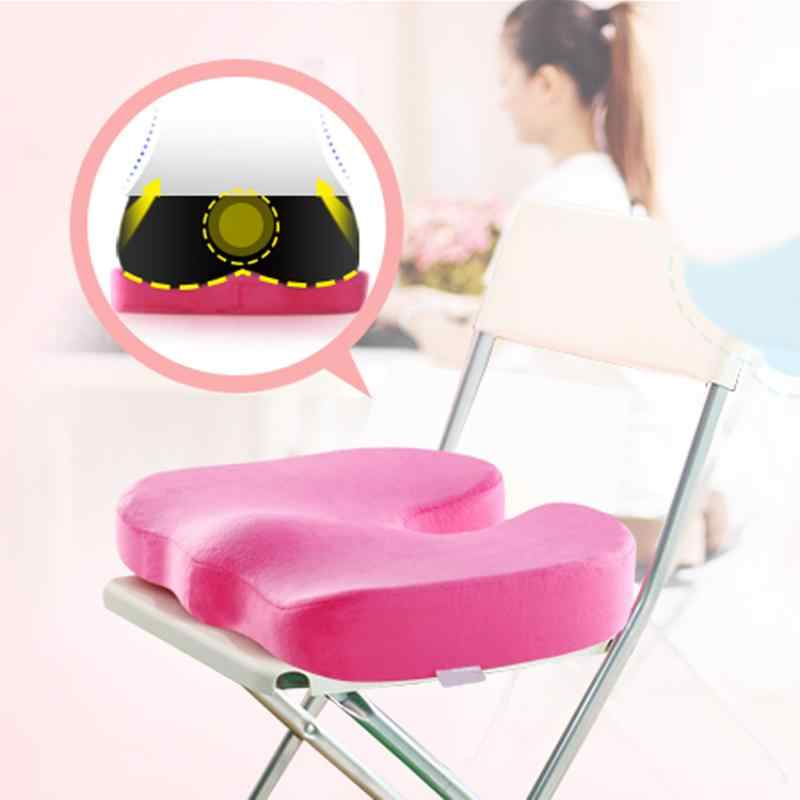 Chair Cushion Travel Memory Foam U Seat Cushion Coccyx Orthopedic Car Office Massage Healthy Sitting Cushions Home Textile