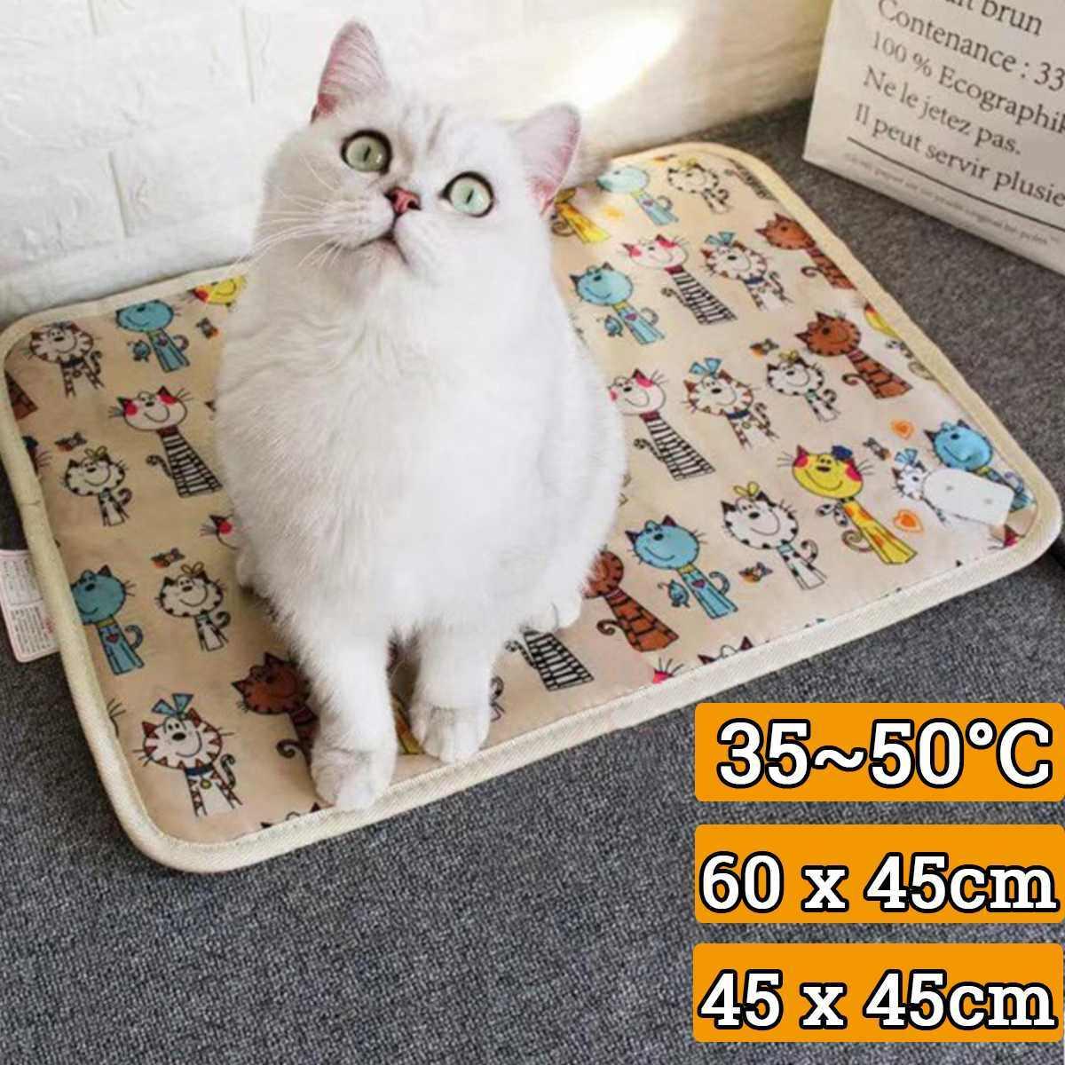 Pet Heater Mat 40-60 Deg. Temperature Control Products Waterproof Pet Heated Warmer Pad Anti Scratch Cat Dog Heater 220V 20/25W