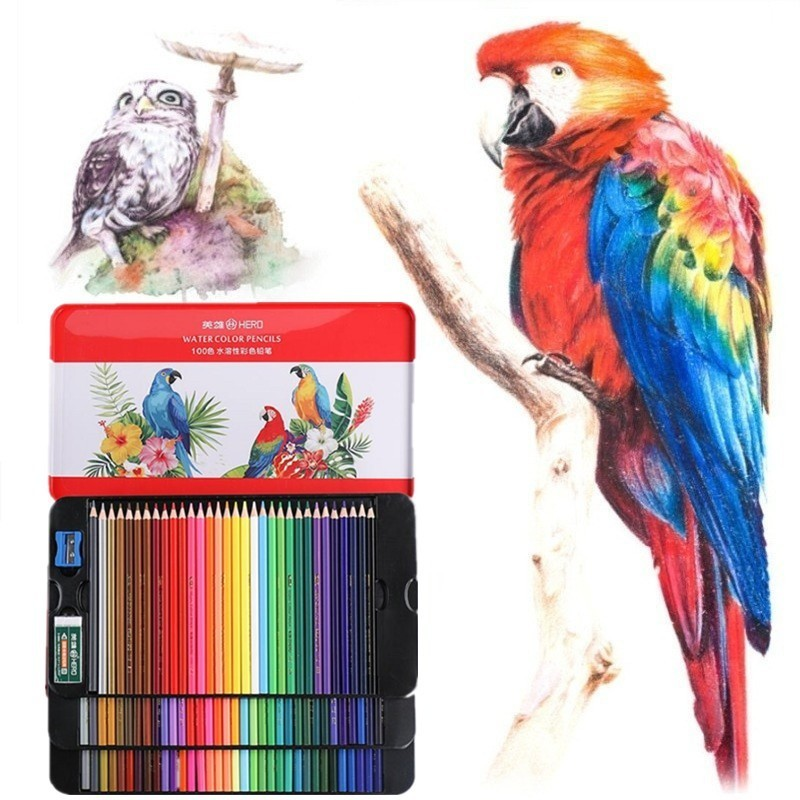 100 Colors Watercolor Pencils Art Supplies Professional Colored Pencils For Children Painting Drawing School Stationery 05861