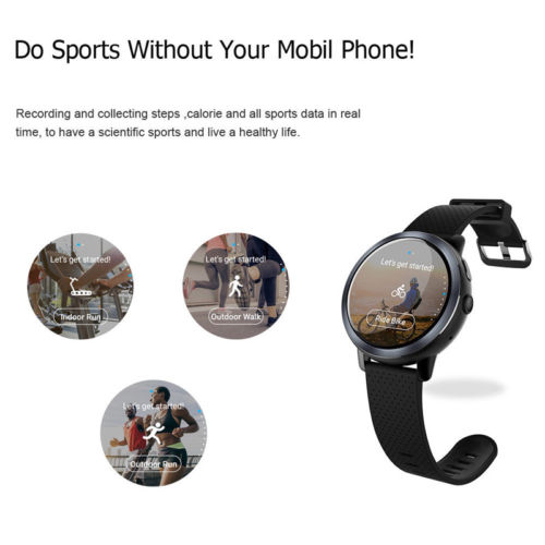 LEM8 4G Smart Watch Android 7.1.1 2GB +16GB With GPS 2MP Camera Monitor