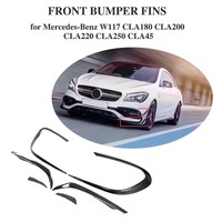 For Mercedes Benz W117 CLA45 AMG 2017 2018 Base 4Matic Sedan 4 Door Vent Fender Trim Sticker Decoration Carbon Fiber