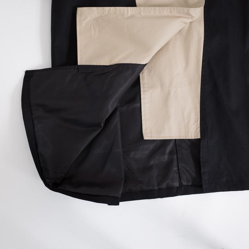 Be726 Femmes Marée Pour Vêtements Mode 2018 Picture Qlzw Automne Double Ceintures Patchwork Boutonnage Trench Coat Color Casual Coupe À vent Nouvelle zUAwwvx