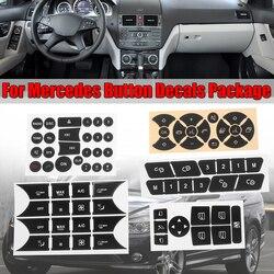 Samochód przycisk naprawa kierownicy AC drzwi blokada okna naklejki naklejki nowy dla Mercedes Benz 2007-2014 przycisk naprawa naklejka naklejka