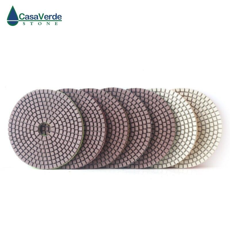 DC C1PP02 4 дюйма 100 мм Алмазный медь Бонд шлифовальные колодки с 3,0 мм рабочая глубина для гранита, мрамора и бетона
