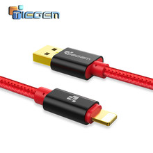 TIEGEM USB Cable for iPhone 7 8 Plus X XS XR 1m 2m 3m Nylon Data Cable Fast Charging Cables for iPad iPod Mini Phone Accessories