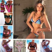 Bikinis Women 2018 Swimwear Printing Bikini Set New Swimsuit Bandage Beach Bathing Suit Push Up Brazilian Suit Bikini Biquini