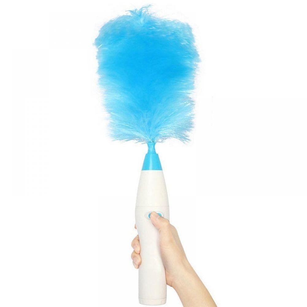 2018 New Electrinic Hair Brush Spin Electric Hand Duster font b Motorized b font Dust Wand