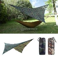 9x9ft Large Waterproof Sunshade Tent Rain Fly Tent Awning Canopy Tarp Hammock Shelter for Outdoor Camping Picnic