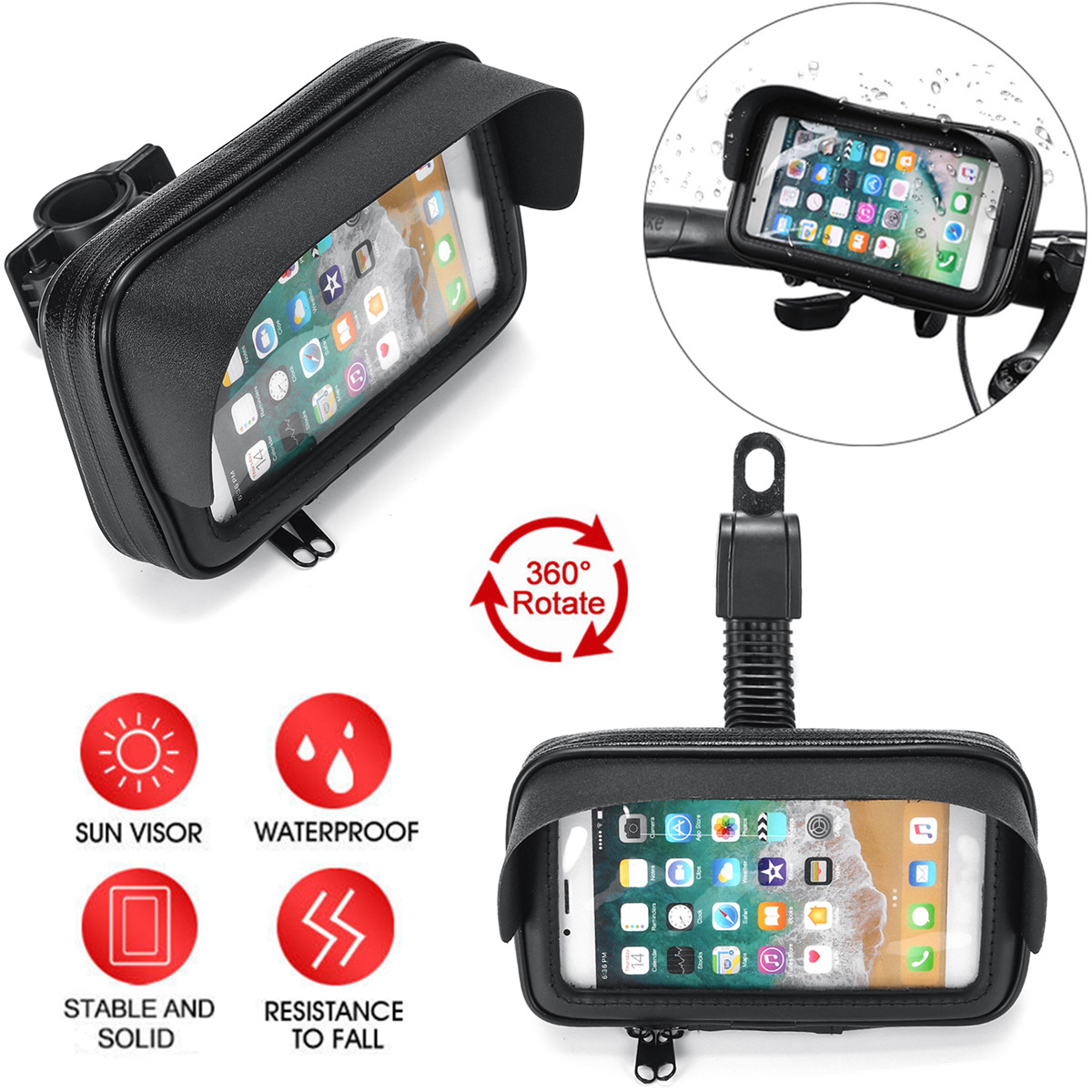 Waterproof Motorcycle Handlebar Phone Holder Bag For BMW R1200GS F800GS Sun Shade GPS Holder Bicycle Mount Protector