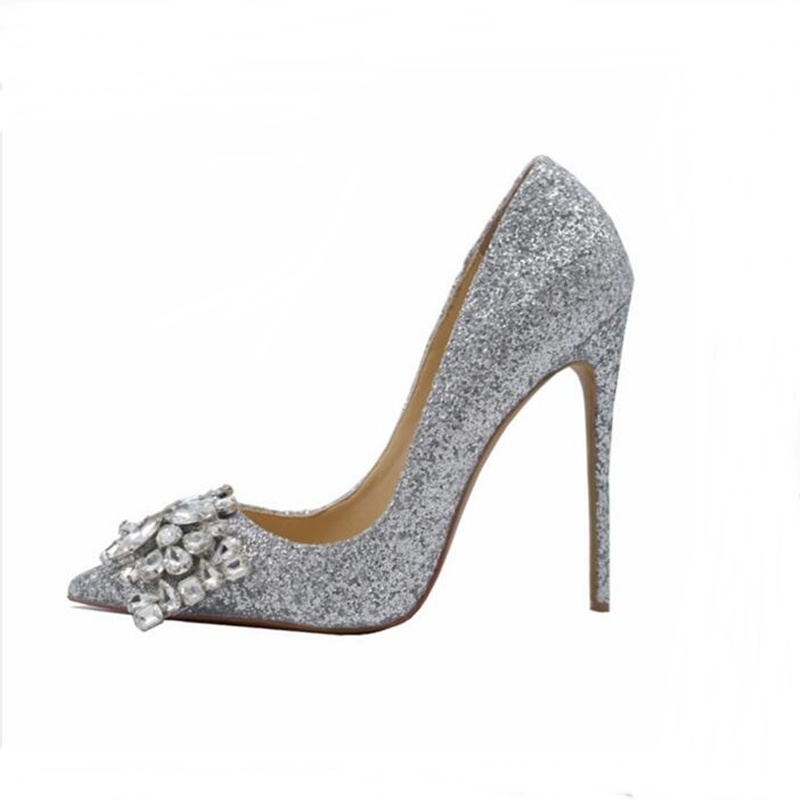 2019 New Arrival Cute Crystal Butterfly Silver Black Shoes Sexy High Heels Pointed Toe Shallow Pumps Woman Wedding Dress Shoe2019 New Arrival Cute Crystal Butterfly Silver Black Shoes Sexy High Heels Pointed Toe Shallow Pumps Woman Wedding Dress Shoe