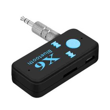 X6 Bluetooth Aux Receiver Car Kit With Mic Wireless Adapter A2DP 3.5mm Stereo Audio For Mobile Phones