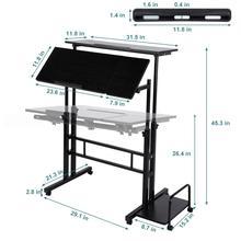 ปรับโต๊ะแล็ปท็อปแบบพกพาLapdeskถาดPCขาตั้งโน้ตบุ๊คโต๊ะยืน