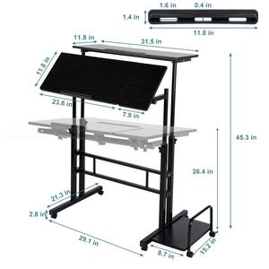 Image 1 - ปรับโต๊ะแล็ปท็อปแบบพกพาLapdeskถาดPCขาตั้งโน้ตบุ๊คโต๊ะยืน